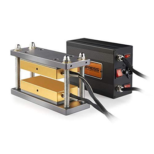 New 3x7 Inch DIY Caged Heat Press Plates Kit - dp-rp37 - Dual Heating Plates - Pair It with 10-20 Ton H-Frame Hydraulic Press (Best Rosin Press Plates)