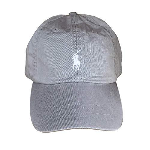 Ralph Lauren Polo Men's Twill Baseball Cap Hat Light Grey