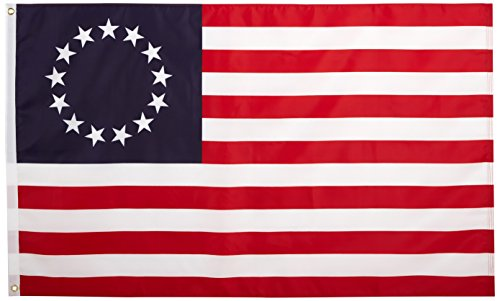 Quality Standard Flags Betsy Ross Nylon Flag, 3 by 5'