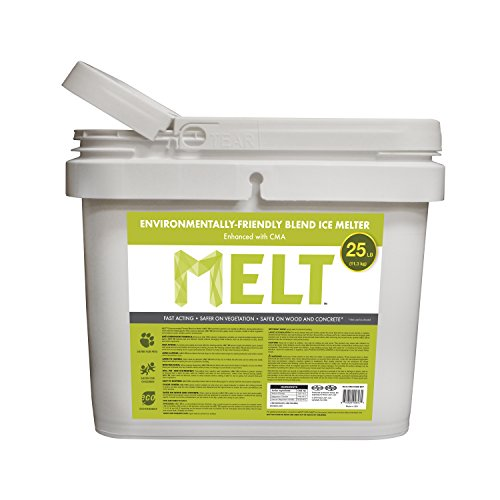 Snow Joe MELT25EB-BKT 25-lb Flip-Top Bucket W/Scoop Melt Premium Environmentally + Pet Friendly Blend Ice Melt