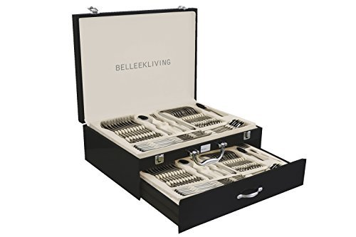 Belleek 72 Piece Occasions Cutlery Set, Silver