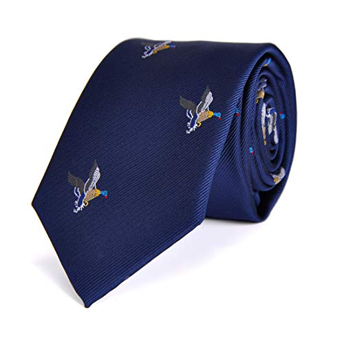 LUISDAN Stripe Tie Jacquard Woven Microfiber Formal Men's Skinny 2.75