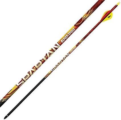 6 Pack Spartan Fletched Arrows Black Eagle