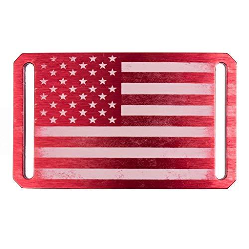 Men's Web Belt GRIP6 Red American Flag Belt Buckle