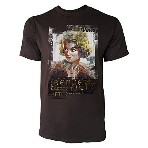 SINUS ART® Bennett Herren T-Shirts braunes Cooles Fun Shirt mit tollen Aufdruck