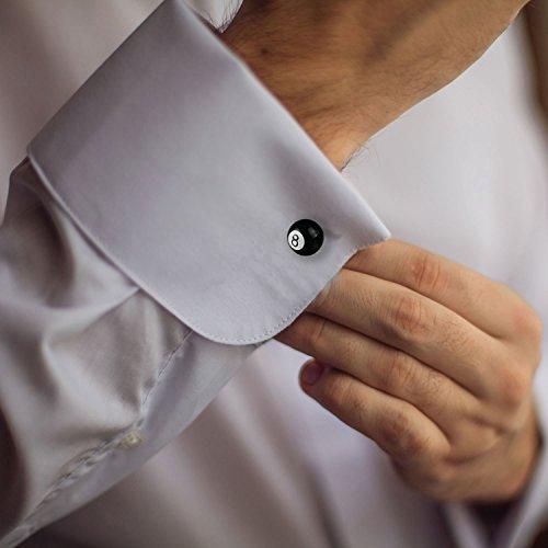 BodyJ4You Cufflinks Eight Ball Pool Billiard Design French Shirt Men Fashion Jewelry Gift Box by BodyJ4You (Image #5)