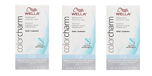 (WELLA COLOR CHARM Permanent Lightest Ash Blonde Liquid Toner (3 Pack) 3 x HC-T18)