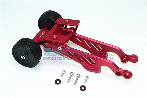 GPM Arrma 1/8 OUTCAST 6S BLX Stunt Truck Upgrade Parts Aluminum Rear Wheelie With Wing Mount - 1 Set Red