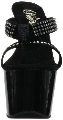 Pleaser - Sandalias mujer, color negro, talla 38.5 (6 UK)