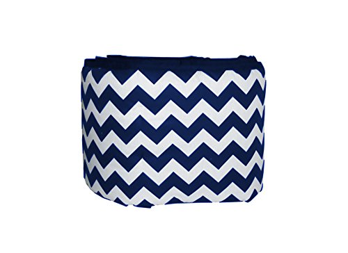 Baby Doll Bedding Chevron Crib Bumper, Navy by BabyDoll Bedding
