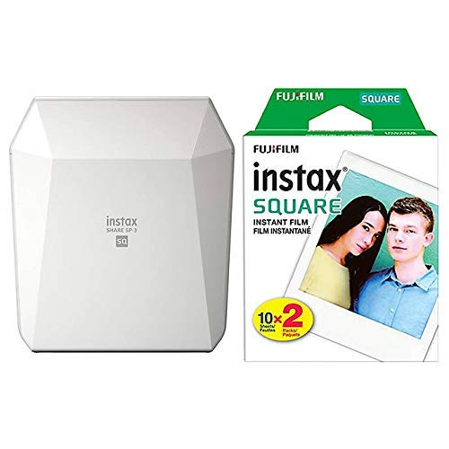 (Fujifilm SP-3 Instax Share Smartphone Printer (White) with Twin Pack Film)
