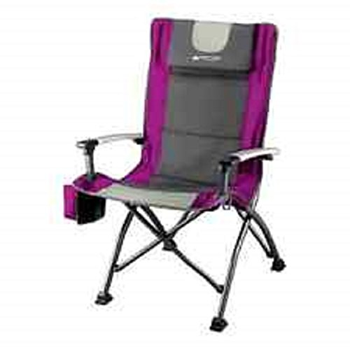 Ozark Trail Ultra High Back Folding Quad Camp Chair Fuchsia