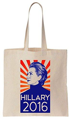 Hillary Clinton 2016 Poster Sacchetto di cotone tela di canapa