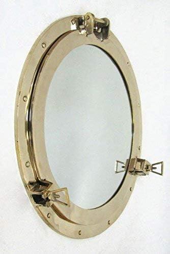 Solid Brass Porthole Mirror 20 Nautical Wall Decor BR48610