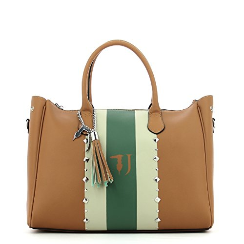Trussardi Jeans Blondie Ecoleather Print Stripes/studs Tote Bag - Bolsos Totes Mujer Leather