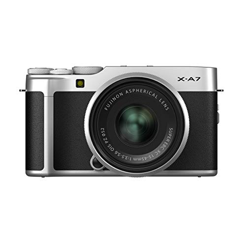 Fujifilm X-A7 Mirrorless Digital Camera w/XC15-45mm F3.5-5.6 OIS PZ Lens, Silver