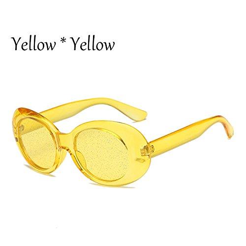 De Tonos De Protección C5 G469 Gafas C7 Lentes Claro Gafas Candy Brillantes Oval Señoras Solar La Yellow TIANLIANG04 Sol Colors Mujer t1qpZp