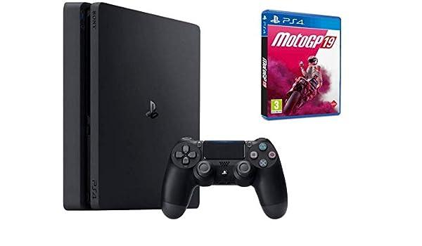 Sony Consola Playstation 4 Slim 1 TB + Juego Moto GP19: Amazon.es ...