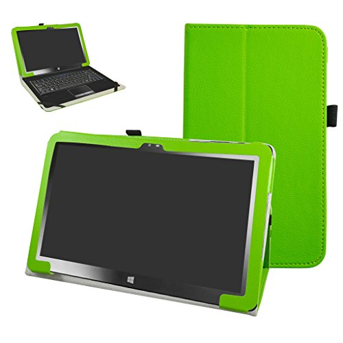Insignia 11.6 NS-P11W7100 / NS-P11A8100 Case,Mama Mouth PU Leather Folio Stand Cover for 11.6 Insignia 11.6 NS-P11W7100 / NS-P11A8100 11.6 Inch Windows 10 Tablet PC,Green