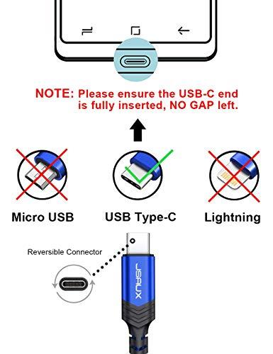 Amazon.com: JSAUX - Cable USB tipo C para Samsung Galaxy S9 ...