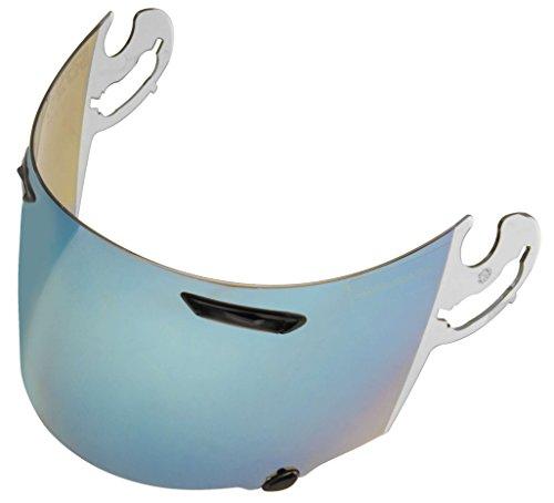 [Arai Full Face Motorcycle Helmet Shield, Coated Blue Mirror] (Arai Vector Full Face Helmet)