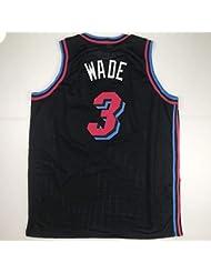 29a6cacf516 Unsigned Dwyane Wade Miami Black City Vice Custom Stitched Basketball  Jersey Size Men's XL New No