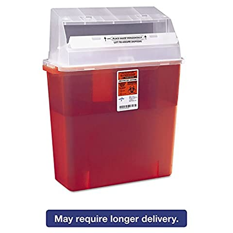 MDS705203H - Biohazard Multipurpose Sharps Containers,Red,3 Gallon - Red Sharps Container