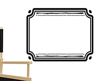 Design with Vinyl RAD 1179 2Rectangular Shaped Frame with Curve and Dots Corners Silhouette Vinyl Wall Decal 16 x 24 Black