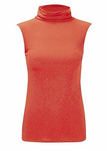 Nueva Danza de la mujer Polo cuello superior damas tortuga cuello alto bodycon Top Jersey 8–�?6 Coral