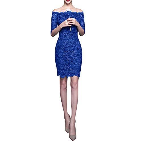 Abendkleider Dunkel Marie Royal Blau Langarm Knielang La Braut Cocktailkleider Gruen Spitze Brautjungfernkleider q8wWUx1Tg