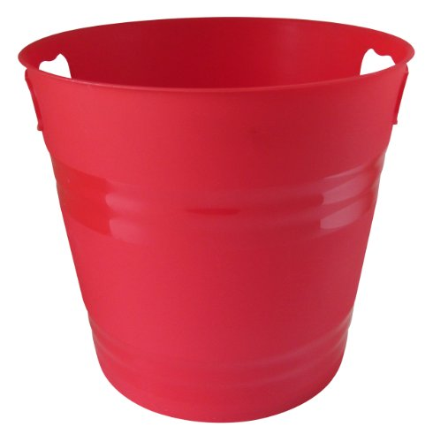 United Solutions PA0018 Red Two Gallon Plastic Party Pail Ice Bucket-2 Gallon Plastic Ice Bucket in Red