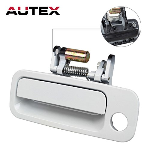 AUTEX 1pcs White Exterior Door Handle-Front Left (Driver Side) for 1997 1998 1999 2000 2001 Toyota Camry (Bulit In Japan) (Outside Toyota Left Camry Door)