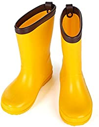 Children's Yellow Rain Boots Durable Water Shoes