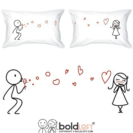 BOLDLOFT From My Heart to Yours Couples Pillowcases for Him and Her| Cute Girlfriend Gifts