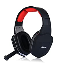 OAproda® 2.4G Wireless Headset Premium Optical Fiber Video Gaming Headset with Detachable & Volume Control Microphone for XBOX 360, PS3, PS4, WII, MAC, TV, Computer, PC Laptops Surround Sound Earphone Stereo Headphones