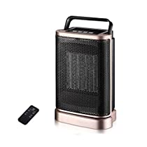 Home Office Energy Saving Speed Hot Small Mini Heater PTC Ceramic Heating Convection Fan 1500W Black (Size : Remote control)