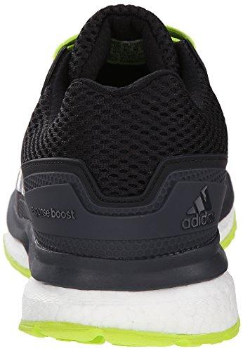 Adidas Prestaties Heren Reactie Boost 2 Techfit M Hardloopschoen Grijs / Zwart / Zonne-geel