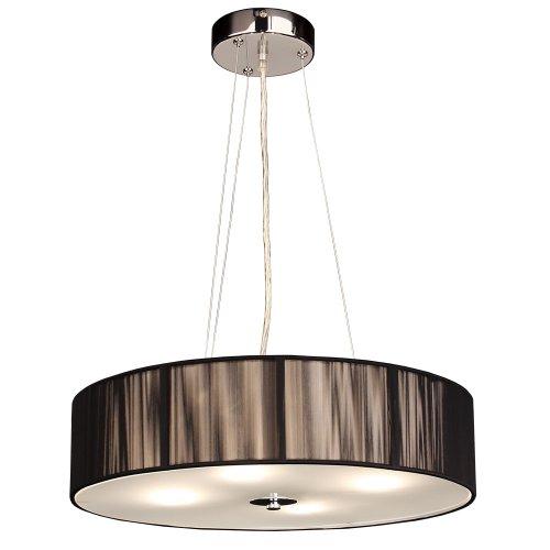 s`luce (Twine) BLACK Hängeleuchte 4-flammig, Ø50cm/H12cm, schwarz LD001 Ø50/H12 BK