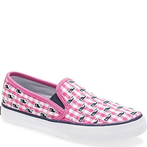 Sperry Top-Sider Sperry x Vineyard Vines Seaside Gingham Whale Sneaker Big Kid 5.5 Pink