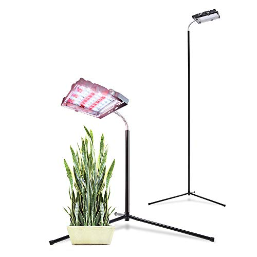 Aceple Floor Grow Light with Stand, Warmwhite Lamp with Flexible Gooseneck, Full Spectrum LED Plant Light for Indoor Plants Veg and Flower