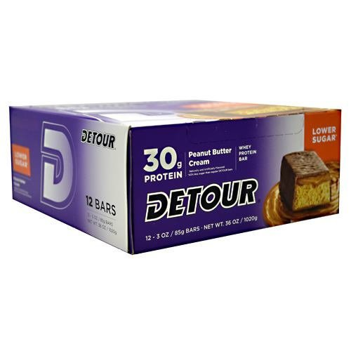 Forward Foods Detour Low Sugar Whey Protein Bar - Peanut Butter Cream - 12 Bars