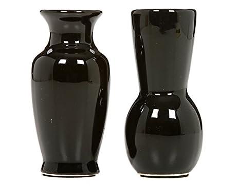 Amazon Hosleys 375 High Black Mini Bud Vases Set Of 6 Bulk