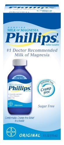 Phillips Original Milk of Magnesia Laxatives, 4 oz.