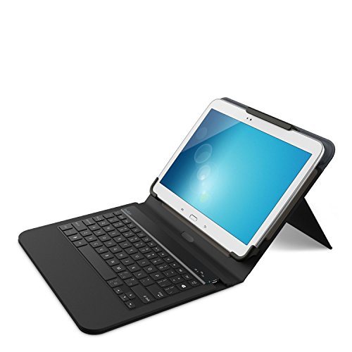 - Belkin QODE Universal Keyboard and Case for 10-Inch Tablets, Compatible with Galaxy Tab 4 - 10.1