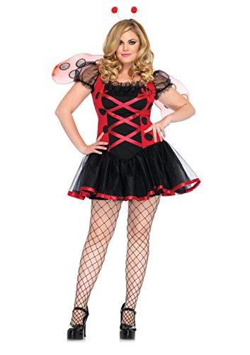 Plus Size Ladybug Costumes (Adult Plus Size Lovely Ladybug Costume - Lady Bug Size: 1X-2X)