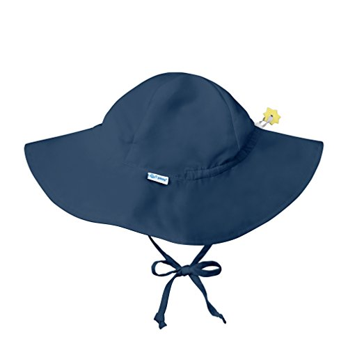 (i play. Baby Solid Brim Sun Protection Hat, Navy, 0-6 Months)