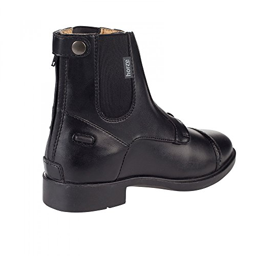 Jodhpur Horze Junior Back Synthetic Black Paddock And Zip Leather Kilkenny Adult And BL Laces Boots Elastic With rSESAw