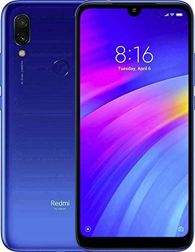 "Xiaomi Redmi 7 32Gb+3GB RAM 6.26"" HD+ LTE Factory Unlocked GMS Smartphone (International Version, No Warranty) - Blue"