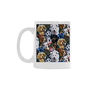 Cute Dog Personalized Funny Healthy Ceramic Classical White Mug, Coffee,Water,Tea Cup for Women/Men