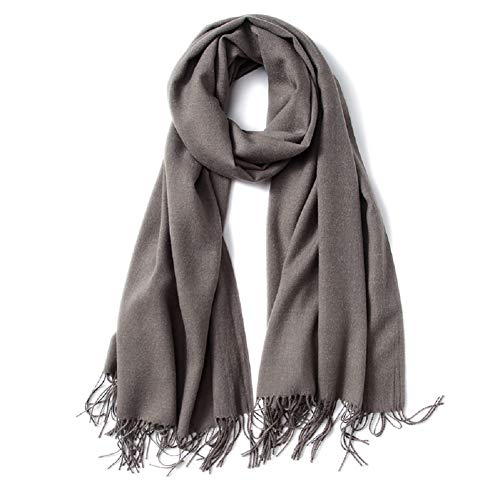 oft Cahmere Feel Scarves for Men Long Scarfs with Tassels Gray ()